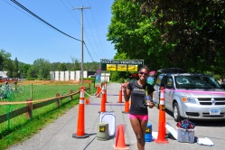 Posing for my mom after winning the Pawling Triathlon.